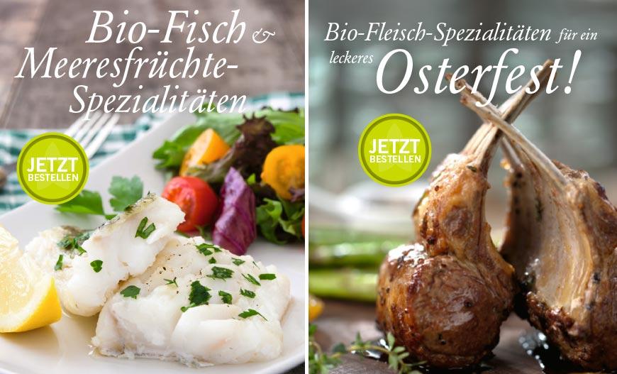 Bio-Osterfisch und Osterfleisch bestellen