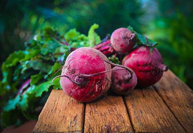 Rote Bete aus biologischem Anbau