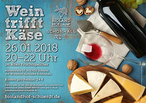 Wein trifft Käse am 26.01.2018