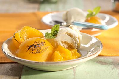 Serviervorschlag Pfirsiche