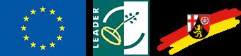 EU-Logo, LEADER-Logo, Wappenzeichen RP